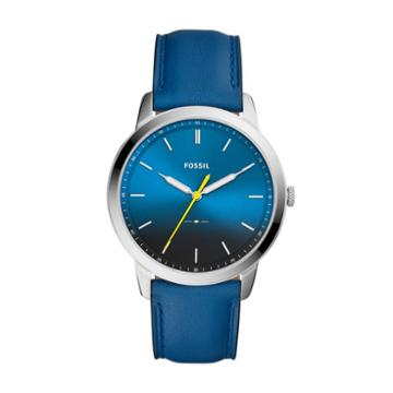 Fossil The Minimalist Three-hand Blue Leather Watch  Jewelry - Fs5465