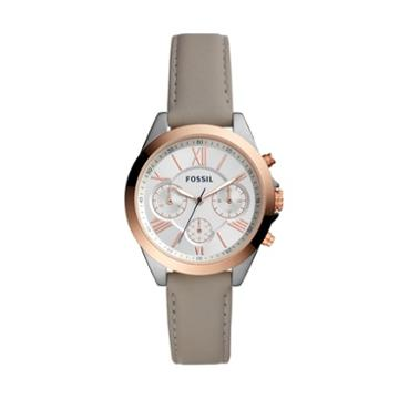Fossil Modern Courier Midsize Chronograph Gray Leather Watch  Jewelry - Bq3110