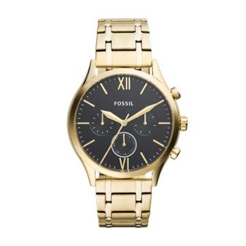 Fossil Fenmore Midsize Multifunction Gold-tone Stainless Steel Watch  Jewelry - Bq2366