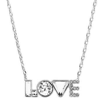 Fossil Love Silver-tone Brass Necklace  Jewelry - Joa00551040
