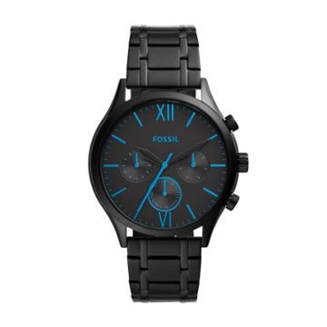 Fossil Fenmore Midsize Multifunction Black Stainless Steel Watch  Jewelry - Bq2405