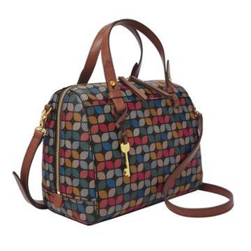 Fossil Rachel Satchel  Handbags Black Multi- Zb7314016