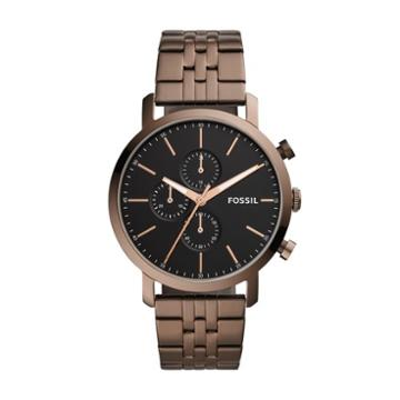 Fossil Luther Chronograph Espresso Stainless Steel Watch  Jewelry - Bq2373