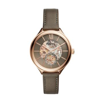 Fossil Suitor Mechanical Brown Leather Watch  Jewelry - Bq3265