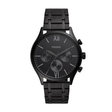 Fossil Fenmore Midsize Multifunction Black Stainless Steel Watch  Jewelry - Bq2365
