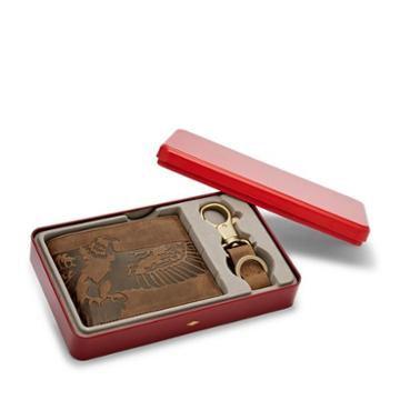 Fossil Eagle Bifold And Keyfob Gift Set  Accessories Brown- Ml3836b200