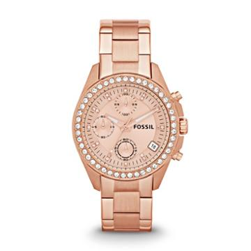 Fossil Decker Chronograph Rose-tone Stainless Steel Watch   - Es3352