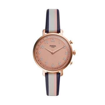 Fossil Hybrid Smartwatch - Cameron Pink Stripe Leather  Jewelry - Ftw5051