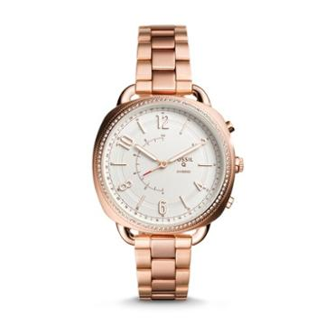 Fossil Refurbished Hybrid Smartwatch - Accomplice Rose Gold-tone Stainless Steel  Jewelry - Ftw1208j