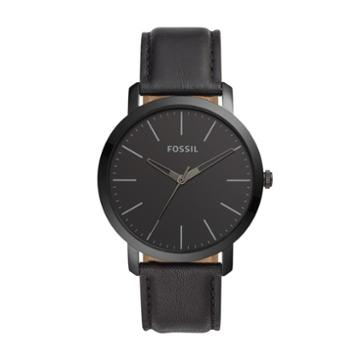Fossil Luther Three-hand Black Leather Watch  Jewelry - Bq2423
