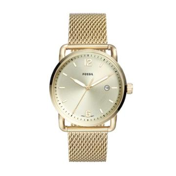 Fossil The Commuter Three-hand Date Gold-tone Stainless Steel Watch  Jewelry - Fs5420
