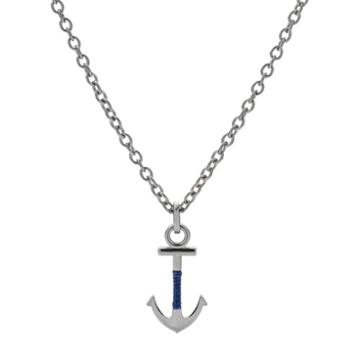 Fossil Anchor Steel Necklace  Jewelry - Jf02878040