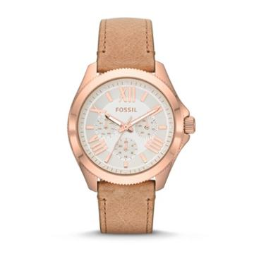 Fossil Cecile Multifunction Sand Leather Watch   - Am4532