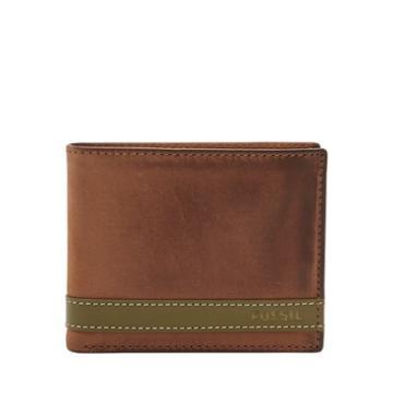 Fossil Quinn Flip Id Bifold  Wallets Olive- Ml3644345