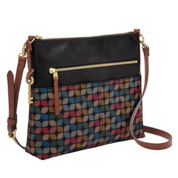 Fossil Fiona Crossbody  Handbags Black Multi- Zb7271016