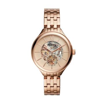 Fossil Suitor Mechanical Rose Gold-tone Stainless Steel Watch  Jewelry - Bq3264