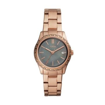 Fossil Adalyn Three-hand Date Rose Gold-tone Stainless Steel Watch  Jewelry - Bq3421