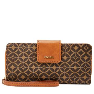 Fossil Madison Slim Clutch  Wallet Multi Brown- Swl2029249