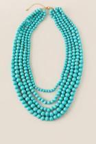 Francesca's Santana Layered Mint Necklace - Mint