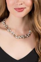 Francesca Inchess Katheryn Pearl Statement Necklace - Rose/gold