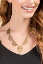 Francesca Inchess Helen Gold Scalloped Necklace - Gold