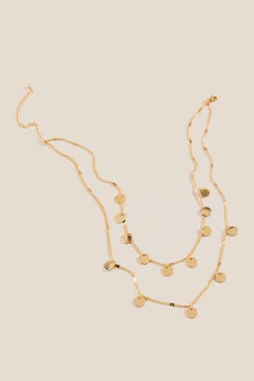 Francesca's Jillian Layered Coin Necklace - Gold