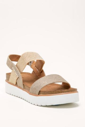 Not Rated Not Restricted Asuma Flatform Sandal - Gold