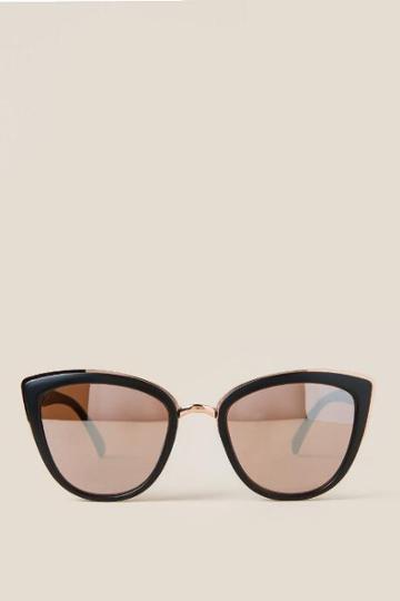 Francescas Shea Cat Eye Sunglasses In Black - Black