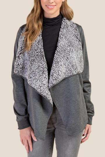 Francesca Inchess Monica Wubby Sweater - Gray