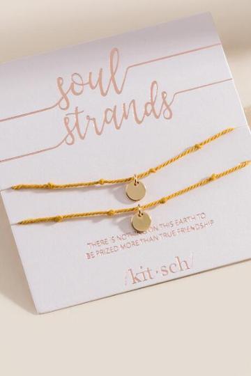 Kitsch Soul Strand Bracelet - Marigold