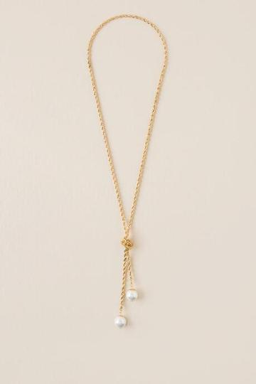 Francesca Inchess Elisa Pearl Chain Wrap Necklace - Pearl