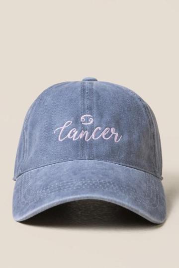 Francesca's Cancer Baseball Hat - Gray