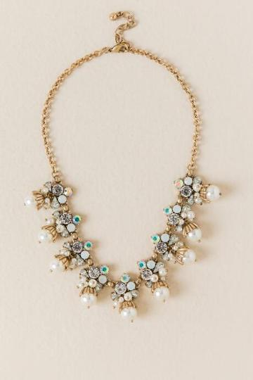 Francesca Inchess Kassidy Crystal Pearl Statement Necklace - Pearl