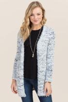Francesca's Piper Popcorn Sweater Wrap - Black/white