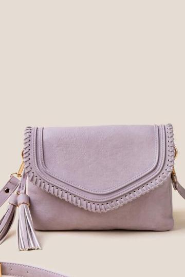 Francesca's Martina Whipstitch Crossbody - Lavender