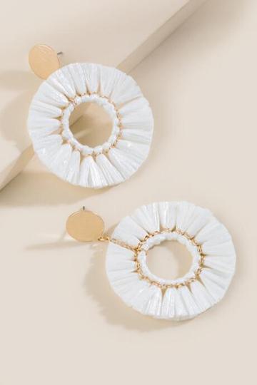 Francesca Inchess Raffan Fan Tassels - White