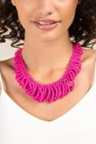 Francesca's Giselle Looped Fuchsia Statement Necklace - Fuchsia