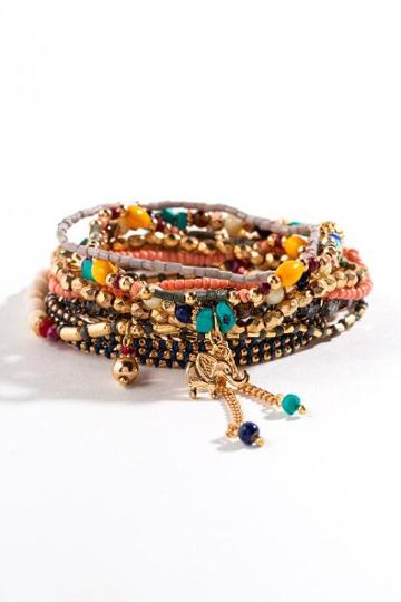 Francesca's Amari Beaded Bracelet Set - Multi