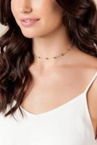 Francesca's Joella Glass Bead Station Choker - Gold