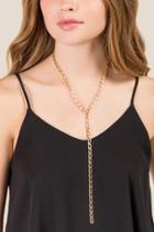 Francesca's Lillian Chain Lariat Necklace - Gold