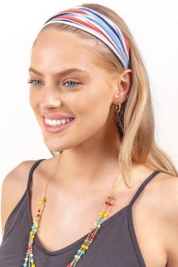 Francesca's Jill Multi-color Stripe Softwrap - Multi
