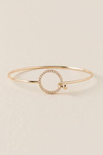 Francesca's Haleigh Open Pave Circle Bangle - Crystal