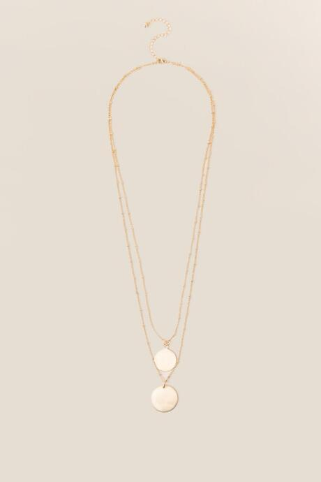 Francesca's Myra Double Gold Coin Necklace - Gold