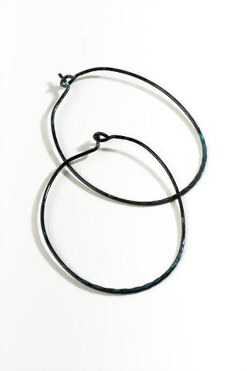 Francesca's Miley Turquoise Oval Hoop Earrings - Turquoise