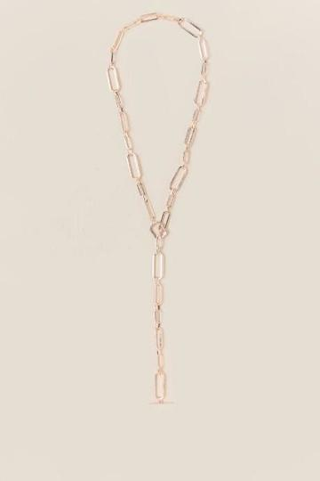 Francesca's Jordyn Rose Gold Chain Necklace - Rose/gold