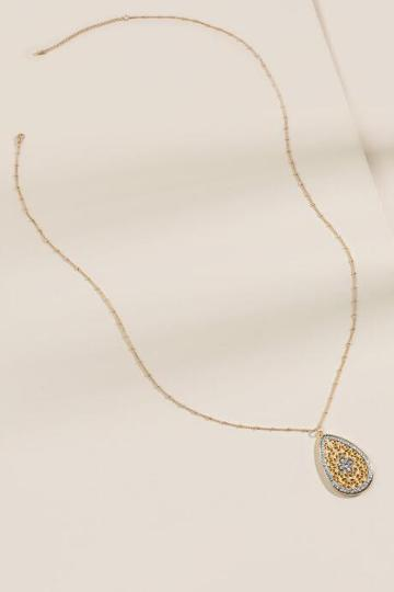 Francesca's Eleanor Filigree Pendant Necklace - Gold
