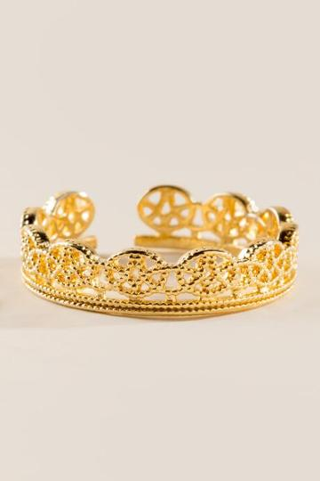 Francesca's Sheridan Filigree Ring - Gold