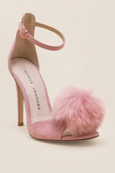 Chinese Laundry Puff Peep Toe Heel - Rose