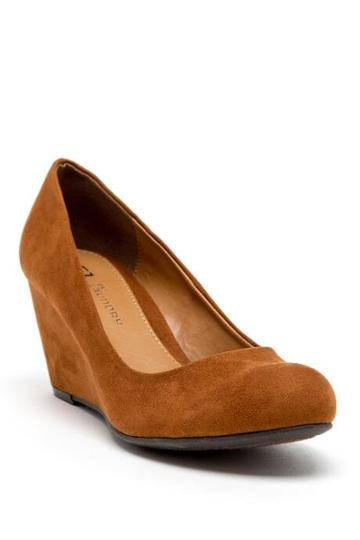 Cl By Laundry Nima Wedge - Cognac