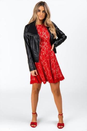 Francesca's Brandice Moto Jacket - Black
